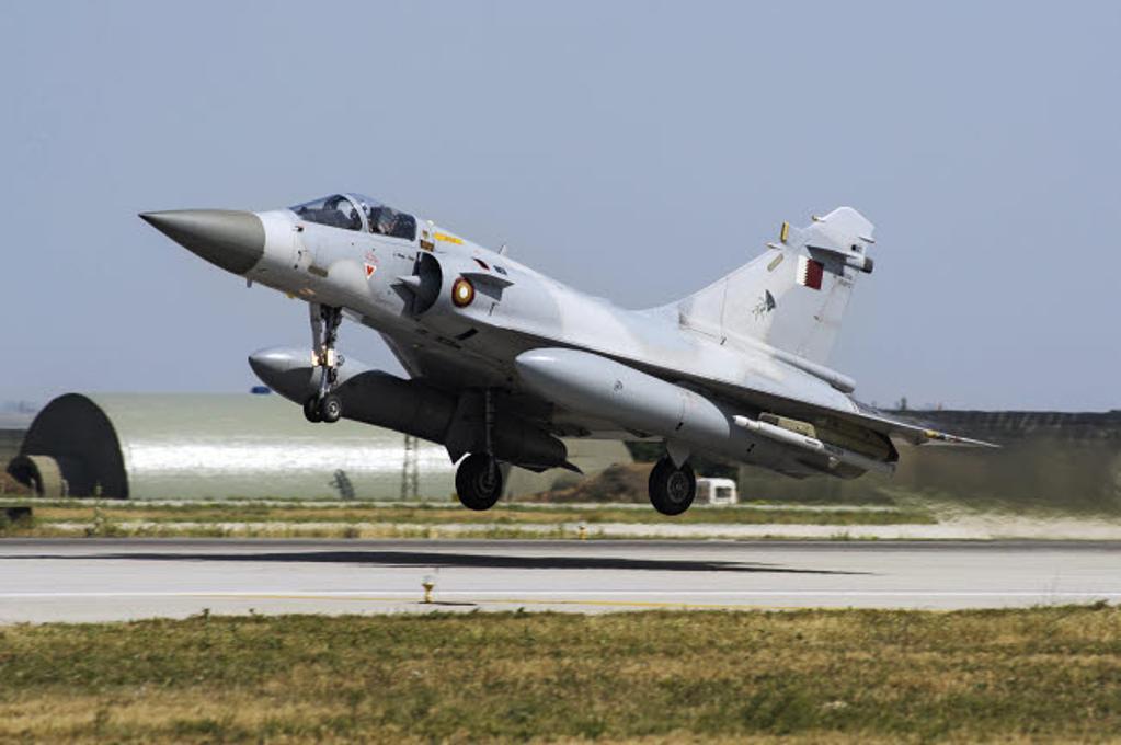 A Qatar Emiri Air Force Mirage 2000-5EDA/5DDA Poster Print by Daniele Faccioli/Stocktrek Images