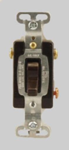 Cooper Wiring Cs315b-box 3-way Commercial Grade Toggle Switch, 15 Amp, Brown