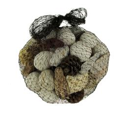Neutral White Decorative Mushroom Mix Assorted Dried Botanicals In a Bag