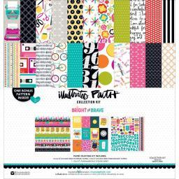 """Illustrated Faith Collection Kit 12""""X12"""" Bright & Brave"""
