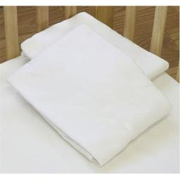 L A BABY 3004-MT Knitted Fitted Sheet For Compact Crib Natural 100% Cotton Fabric- Mint