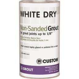 Custom Building Products  White Dry  Indoor and Outdoor  White  Grout  1 lb. - Case Of: 6;