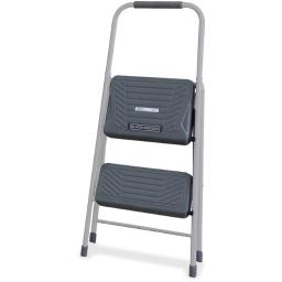 Louisville DADBXL436002 2 ft. Black & Decker Steel Step Stool, Gray
