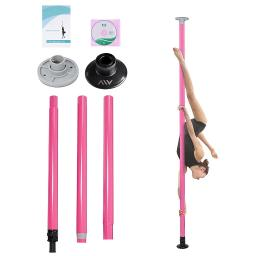 AW® Portable Dance Pole Full Kit Package Exercise Club Party Weight Loss Fitness 50mm w/ Bag Pink