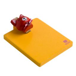 Happy Red Cat - Refrigerator Magnet clip / Magnetic Clipboard