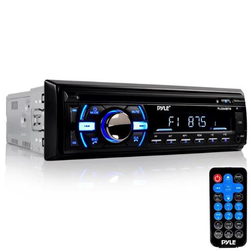 Pyle PLCD43BTM Marine Bluetooth Stereo Radio Headunit Receiver, Hands-Free Call Answering, CD Player, MP3 & USB & SD Readers, Single DIN