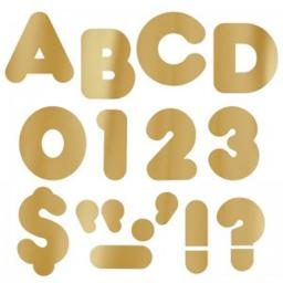 Trend Enterprises T-493BN 2 in. Casual Ready Letters, Metallic Gold - Pack of 6