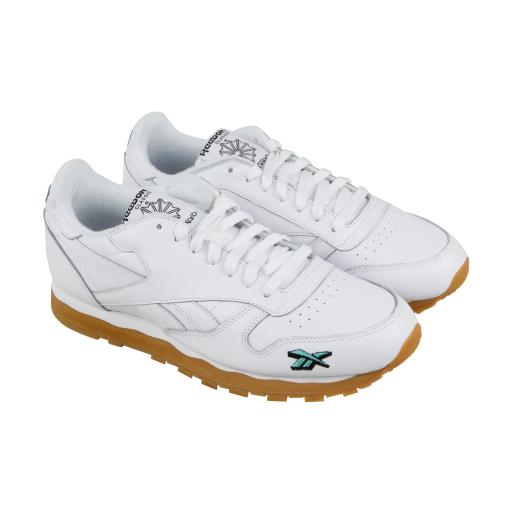 b796c90dace50 Reebok Classic Leather 3Am Mens White Leather Athletic Training Shoes