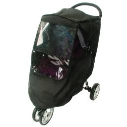 Comfy Baby 2100 Universal Deluxe Insulated Weather Protector Fits All Single Strollers & Joggers with Front Window & Netting, Black- 12 Piece
