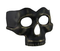 Black Gold Finish Half Face Skull Mask