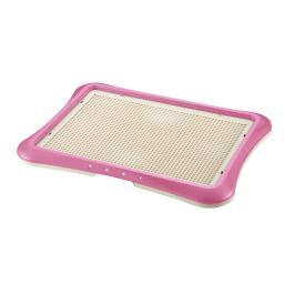 Richell 94555 Pink Richell Paw Trax Mesh Training Tray Pink 25.2 X 18.9 X 1.6