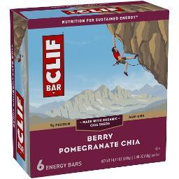 Clif Energy Bars Berry Pomegranate Chia