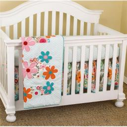 Cotton Tale LZ7S Floral 7 Pieces Crib Bedding Set Lizzie Collection