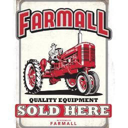 FARMALL 90154414 OPEN ROAD BRANDS DIE CUT TIN SIGN FARMALL QUALITY SOLD HERE