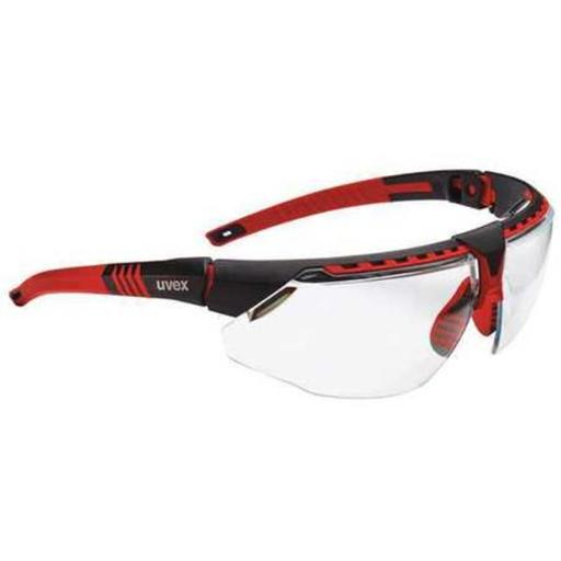 Honeywell Uvex 763-S2860HS Avatar Avatar Hydroshield Anti-Fog Safety Glasses, Red Frame & Clear Lens - Pack of 10