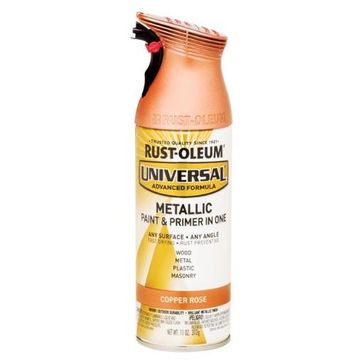 Rust-Oleum 1694348 11 oz Universal Copper Rose Metallic Paint & Primer in One Spray Paint, Pack of 6