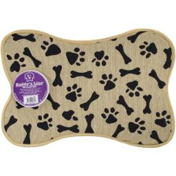 Buddys Line 5200-5220 Signature Placemats - Bone Shape - Bone & Paws, 13 x 19 in.