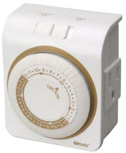 Coleman Cable 50001 Indoor Heavy Duty Mechanical Timer, 15 Amp