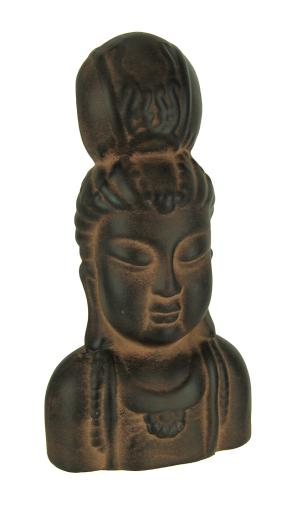 9 Inch Tall Kuan Yin Terracotta Indoor / Outdoor Statue