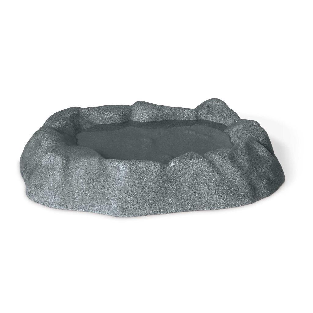 K&h pet products 9005 gray k&h pet products birdbath unheated 1 gallon gray 17 x 23.5 x 4