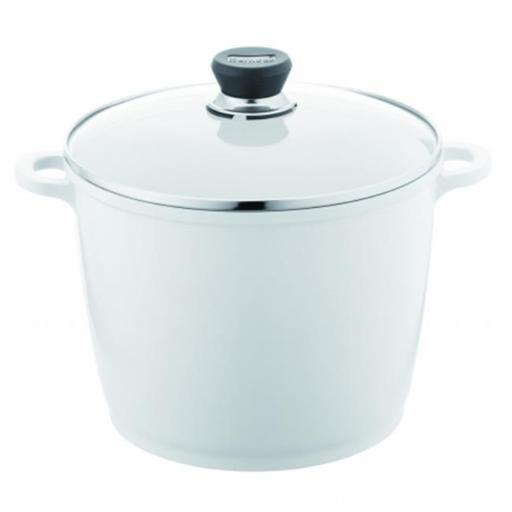 Berndes 697614 SignoCast Pearl Ceramic Coated Cast Aluminum 7 Quart Covered Stock Pot