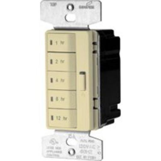 Cooper Wiring Pt18h-v-k Single-pole Wall Switch Timer, 15a, Ivory