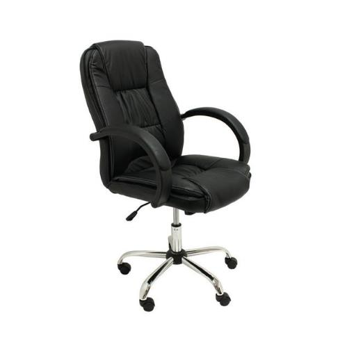 Aleko ALC2123BL-UNB High Back Office Chair Ergonomic Computer Desk Chair PU Leather - Black