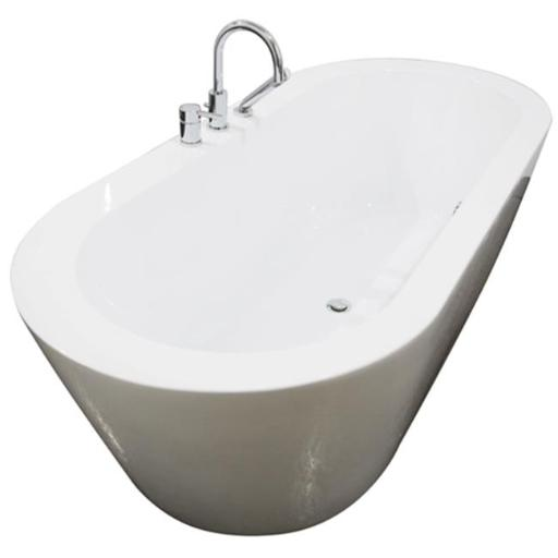 A & E Bath and Shower Una Pure Acrylic 71 In. All-in-One Oval Freestanding Tub Kit