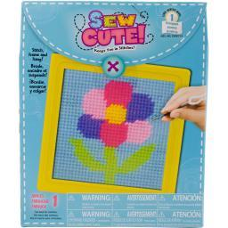 """Sew Cute! Flower Needlepoint Kit-6""""x6"""" Stitched In Yarn"""