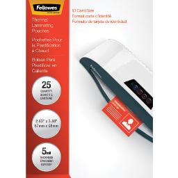 """Laminating Pouches 5 Mil 3.88"""" X 2.63"""" Gloss Clear 25 Per Pack   1 Pack of: 25"""