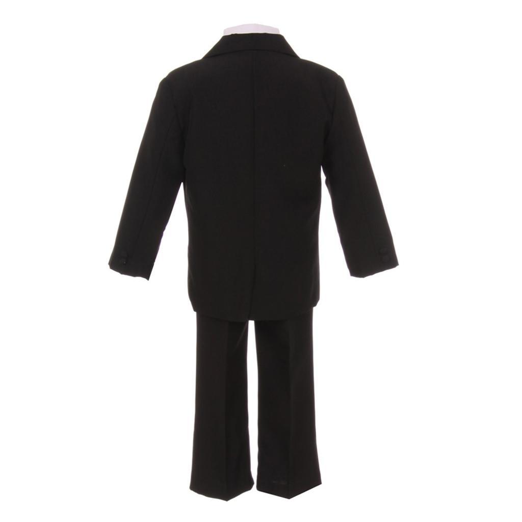 741def7ee Shanil Inc. Baby Boys Black Jacket Pants Shirt Vest 5 pcs Special Occasion  Suit 6-24M | massgenie.com
