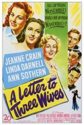 A Letter to Three Wives Movie Poster Print (27 x 40) MOVCF9320