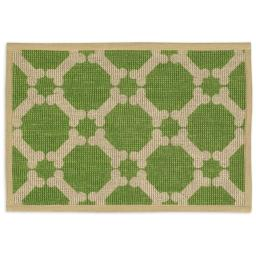 Buddys Line 5400-10 13 x 19 in. Natural Jute Placemats, Green