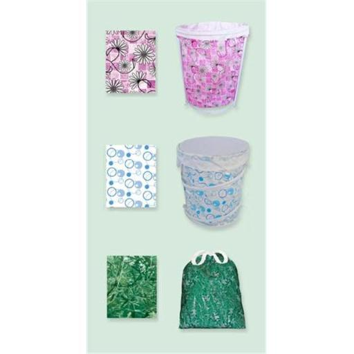 Sassy Sacks for Trash SS1004 - 9 mix Designer trash can liners with additional uses - Pack of 6