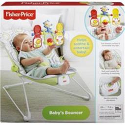 Fisher FIPCMR17 20.1 x 24 in. Babys Bouncer, Gray & White