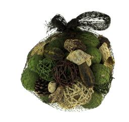Green and Brown Decorative Avocado Mix Assorted Dried Botanicals In a Bag