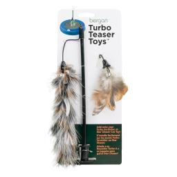 Bergan 88462 Brown Bergan Turbo Cat Teaser Toy Brown 5 X 6 X 12