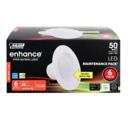 FEIT Electric Enchance Soft White 4 in. W LED Dimmable Recessed Downlight 7.2 watt - Case Of: 1;