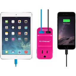 Xtreme Wall Outlet 2 Usb 2.1 Amp Detachable Stand To Hold Devices