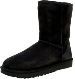Ugg Women's Classic Short II Grey Ankle-High Suede Boot - 8M