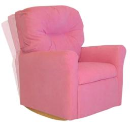 Dozydotes Contemporary Kids Rocker Recliner in Hot Pink