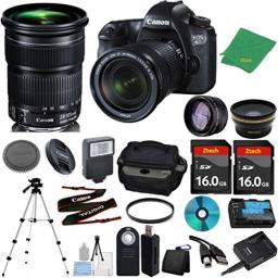 Canon EOS 6D Camera International Version with 24-105mm IS STM + 2pcs 16GB Memory Card + Case + Card Reader + Tripod + Starter Set + Wide Angle + Telephoto + Flash + Filter