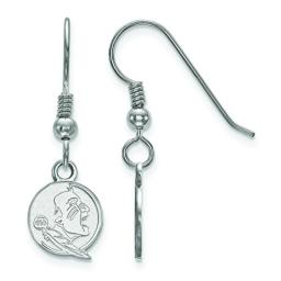 Florida State Extra Small (3/8 Inch) Dangle Earrings Wire (Sterling Silver)
