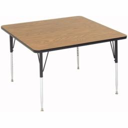 Correll A4242-SQ-16 1.25 in. High Pressure Top Activity Tables - 42 x 42 in. - Fusion Maple