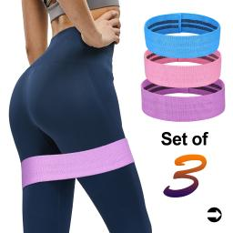 Resistance Bands Loop for Legs and Butt, Anti Slip Fabric, for Legs, Glutes, Abs, Butt, Shoulders & Arms; All Training Levels Women Men; with Carry Bag; Anti Slip Fitness Circle Loop Band; Blue,Pink,Purple