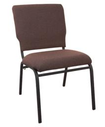 "Offex 18.5"" Wide Java Molded Foam Multipurpose Church Chair with Textured Black Frame"