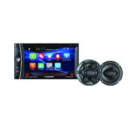 Blaupunkt 6.2-Inch In-Dash Touch Screen DVD Multimedia Receiver Bluetooth and 6.5-Inch 360W Coaxial Speaker Bundle