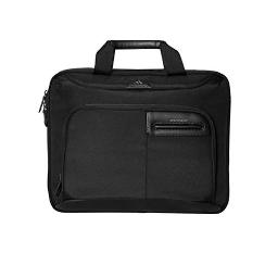 Brenthaven Elliot Slim Brief with Organizer Panel Fits 15.4 Inch Chromebooks,Laptops,Tablets for Commercial,Business and Office Essentials-Black,Durable,Rugged Protection from Impact and Compression