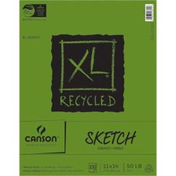"""Pro-Art NOM457487 Canson XL Recycled Sketch Book, 11"""" x 14"""", 100 Sheets"""