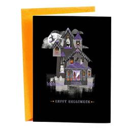 Hallmark Signature Halloween Card (Haunted House)